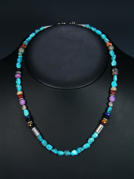 "Turquoise 20"" Single Strand Choker Bead Necklace"