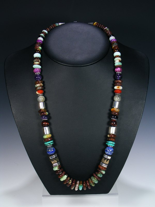 "Onyx 28"" Single Strand Long Beaded Necklace"
