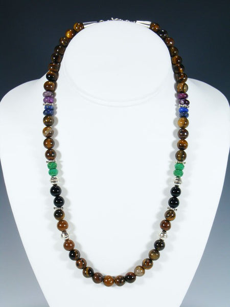 "Tiger Eye 20"" Single Strand Beaded Necklace"