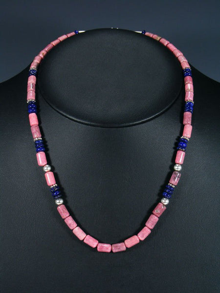 "20"" Single Strand Beaded Rhodocrosite Necklace"