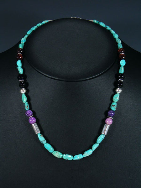 "Turquoise 20"" Single Strand Beaded Necklace"