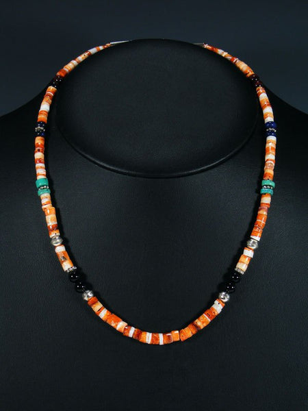 "Spiny Oyster 20"" Single Strand Beaded Necklace"