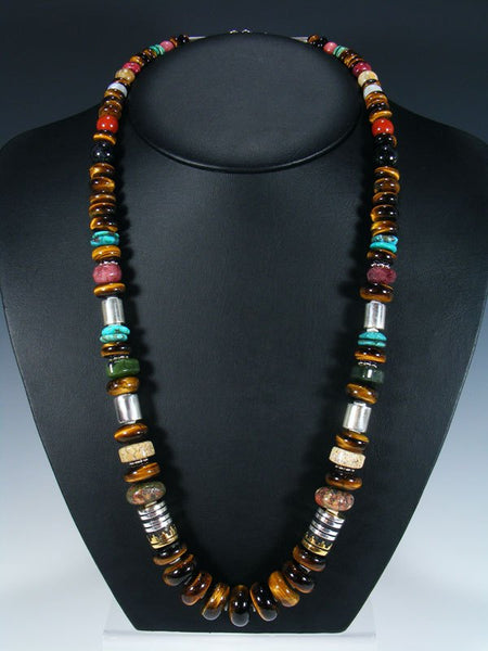 "Tiger Eye Large Single Strand Bead 28"" Necklace"