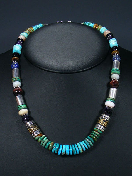 "Turquoise 21"" Single Strand Beaded Necklace"