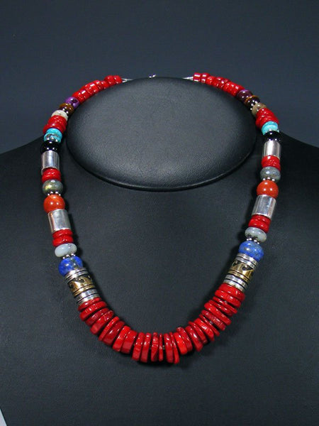 "Coral 21"" Single Strand Beaded Necklace"