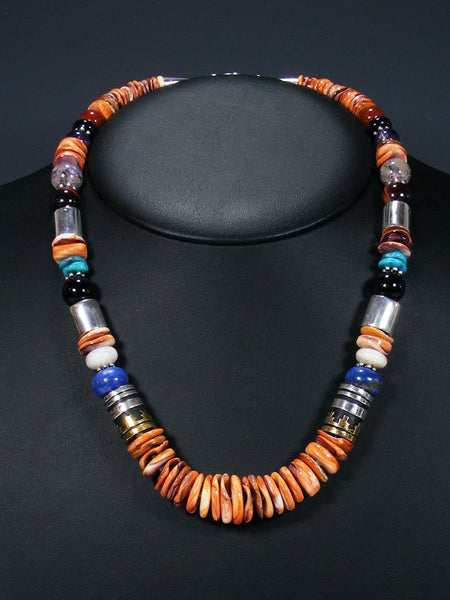 "Spiny Oyster 21"" Single Strand Beaded Necklace"