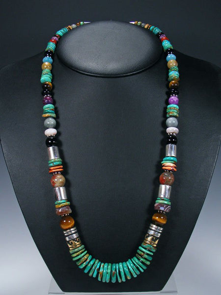 "Turquoise 28"" Single Strand Beaded Necklace"