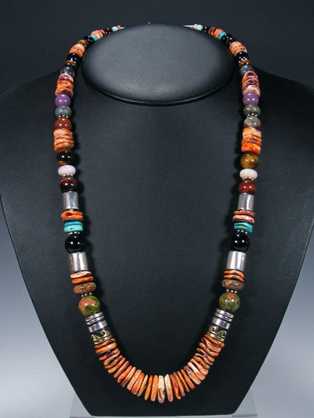 "Spiny Oyster 28"" Single Strand Beaded Necklace"