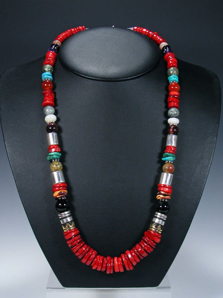 "Coral 28"" Single Strand Beaded Necklace"