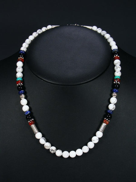 "White Marble 20"" Single Strand Choker Necklace"