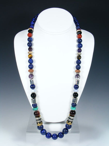 Lapis Single Strand Necklace
