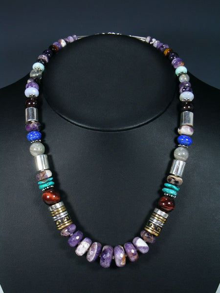 "Amethyst 21"" Single Strand Bead Necklace"