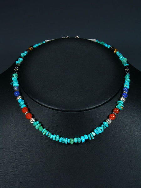 "16"" Turquoise Single Strand Beaded Necklace"