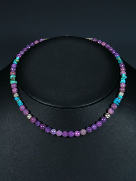 "16"" Dyed Jasper Single Strand Beaded Necklace"