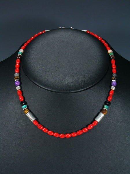 "18"" Coral Single Strand Necklace"