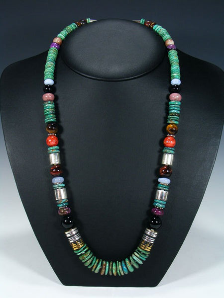 "Turquoise Single Strand Bead 28"" Necklace"