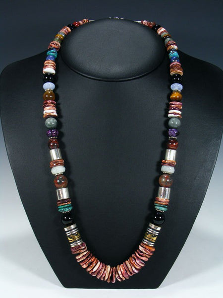 "Spiny Oyster Single Strand Bead 28"" Necklace"