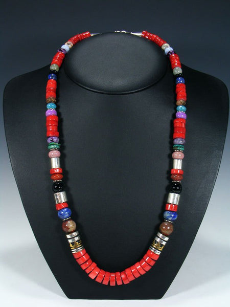 "Bamboo Coral Single Strand Bead 28"" Necklace"