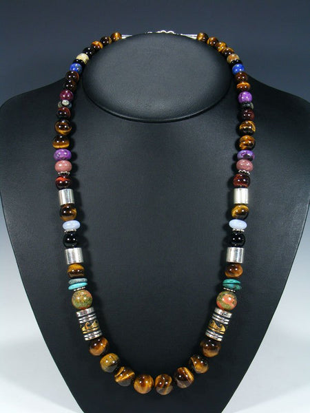 "Tiger Eye Single Strand Bead 28"" Necklace"