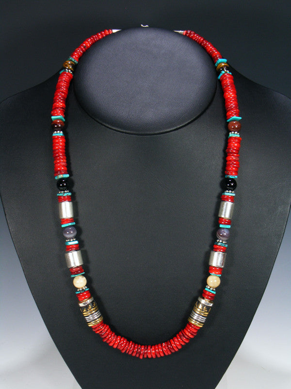 "Coral Long Single Strand 28"" Necklace"
