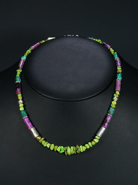 "Gaspeite 18"" Single Strand Bead Choker Necklace"