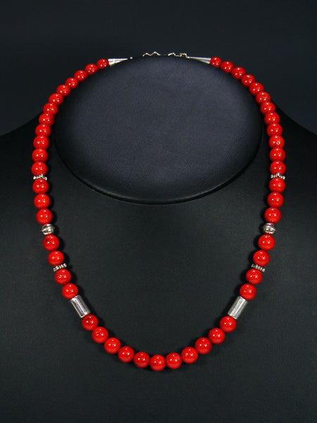 "Coral 20"" Single Strand Choker Necklace"