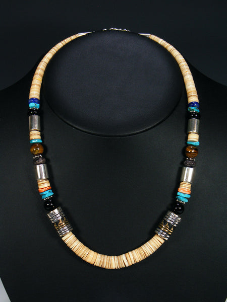 Shell and Turquoise Single Strand Necklace
