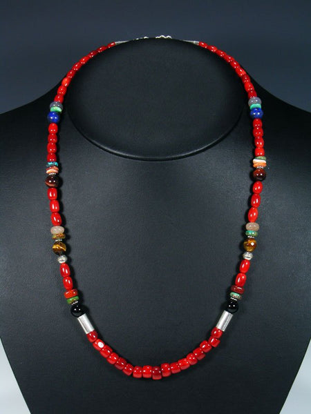 "24"" Single Strand Beaded Coral Necklace"
