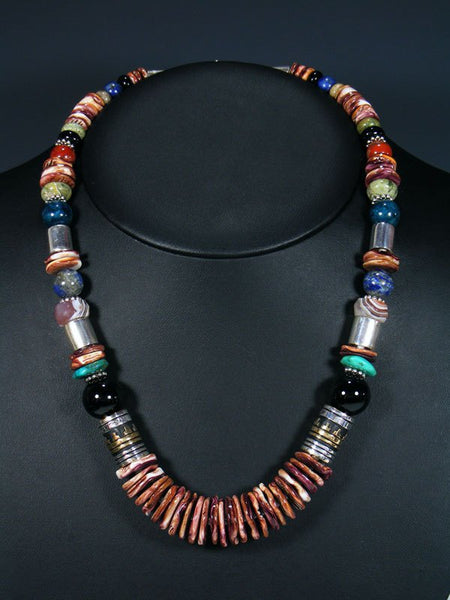 "Spiny Oyster 21"" Single Strand Bead Necklace"