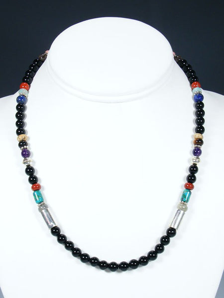 "Onyx 18"" Single Strand Choker Bead Necklace"