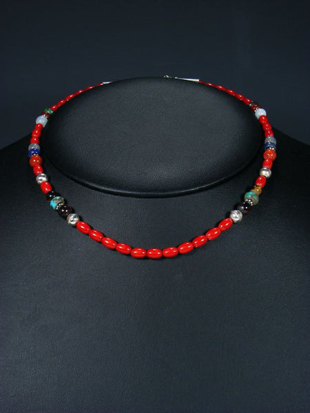 "16"" Bamboo Coral Single Strand Beaded Necklace"