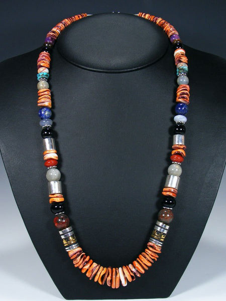 "Spiny Oyster 28"" Single Strand Long Beaded Necklace"
