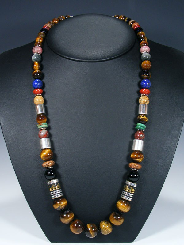 "Tigers Eye 28"" Single Strand Long Beaded Necklace"