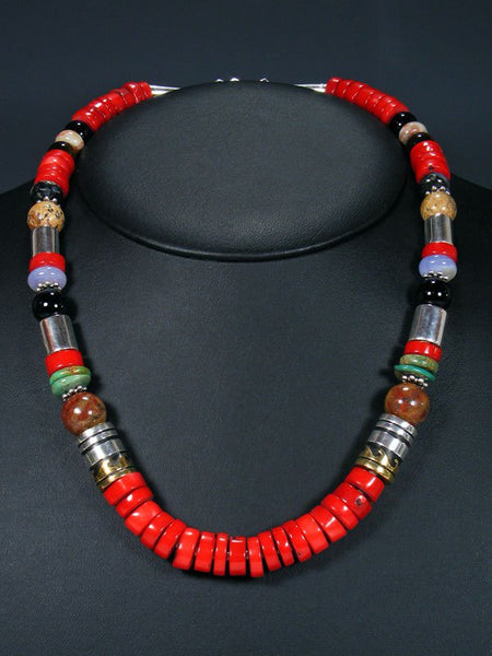 "Coral 21"" Single Strand Bead Necklace"