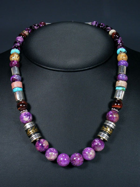 "21"" Dyed Jasper Large Single Strand Beaded Necklace"