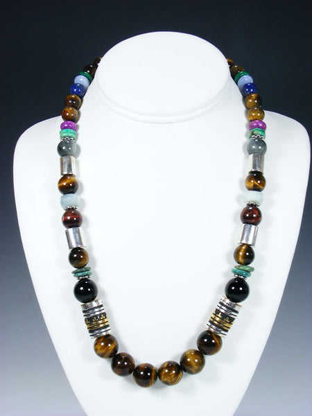 "Tiger Eye 21"" Single Strand Bead Necklace"