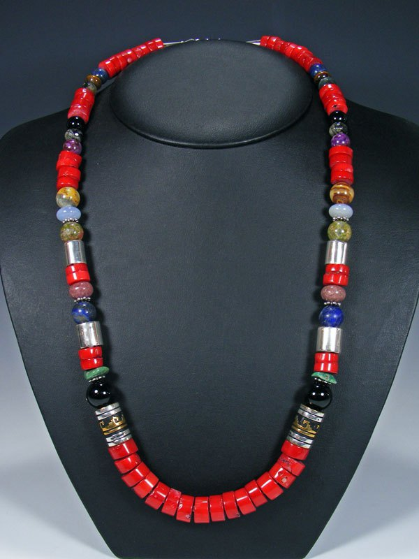 "Coral 28"" Single Strand Long Beaded Necklace"