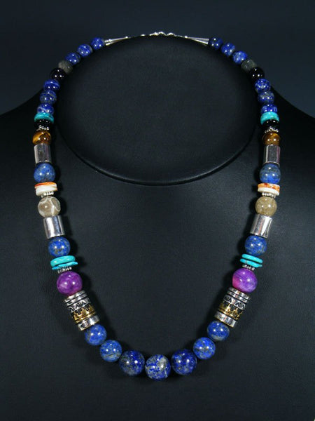 "Navajo Lapis 21"" Single Strand Bead Necklace"