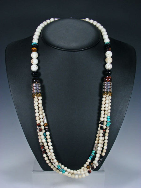 "Marble Multi-Strand 30"" Beaded Necklace"