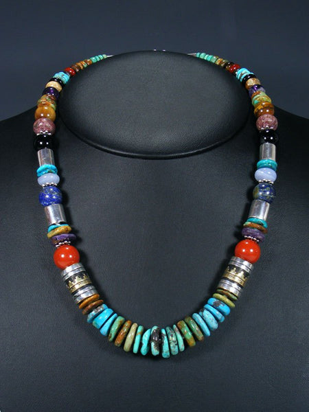 "Turquoise 21"" Single Strand Bead Necklace"