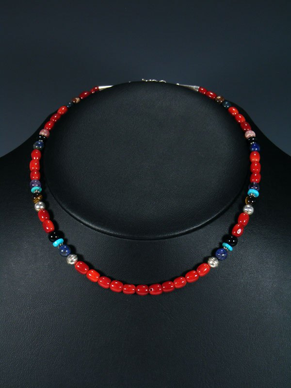 "16"" Coral Single Strand Beaded Necklace"