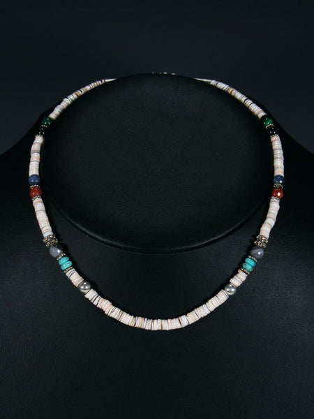 "16"" Shell Single Strand Beaded Necklace"