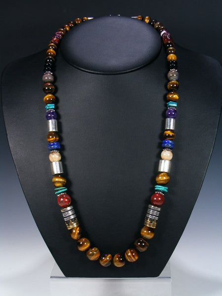 "Tiger Eye 28"" Single Strand Necklace"
