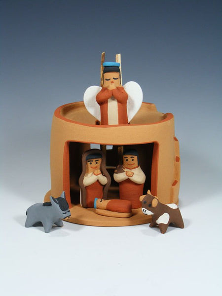 Jemez Pueblo Pottery Storyteller Nativity Set