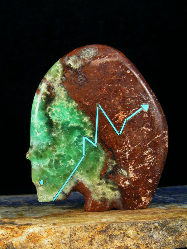 Chrysoprase Bear Zuni Fetish by Stewart Quandelacy - PuebloDirect.com - 1