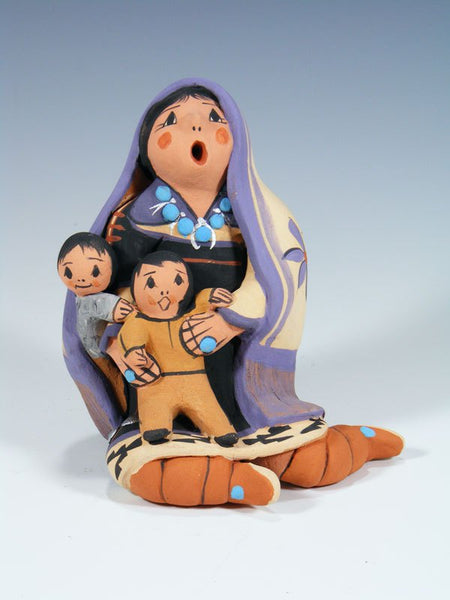 Jemez Pueblo Blanket Storyteller Doll 2 Children