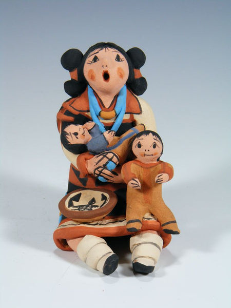 Jemez Pueblo Storyteller Doll 2 Child Figurine