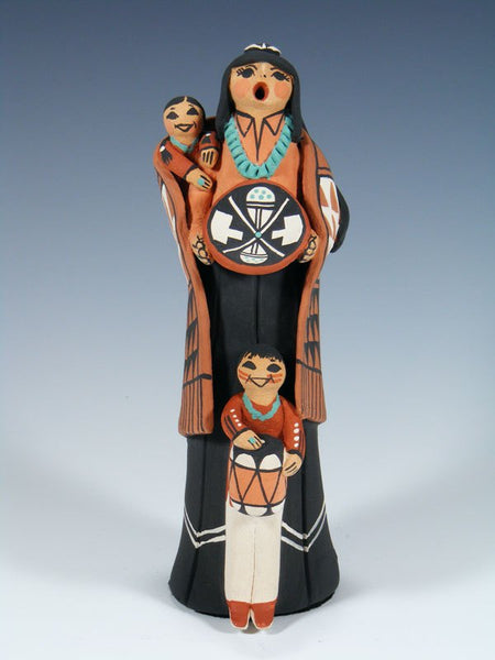 Jemez Pueblo Pottery 2 Child Storyteller Doll