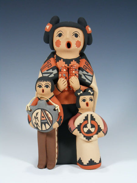 Jemez Pueblo Pottery 2 Child Storyteller Figurine