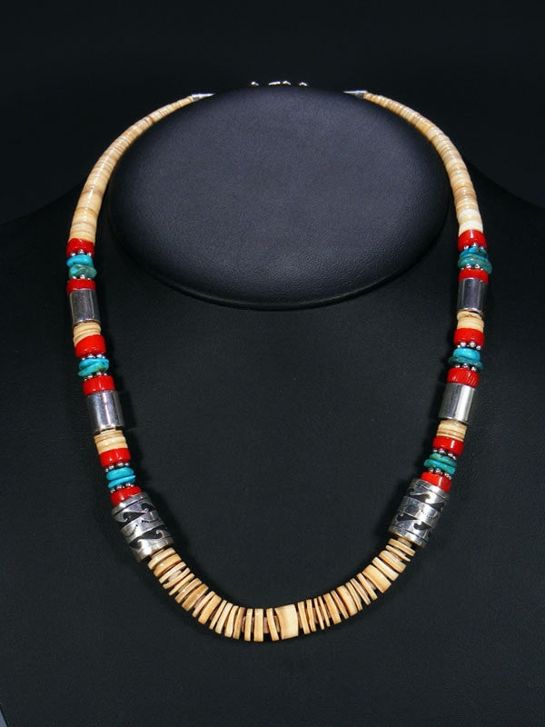 Shell Single Strand Necklace by Tommy Singer - PuebloDirect.com - 1